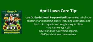 april lawn care tip