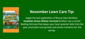 november lawn care tip