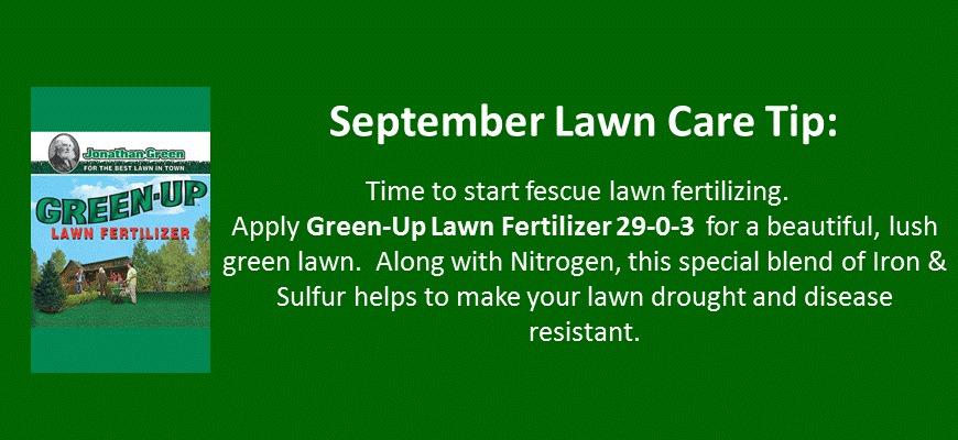 september lawn care tip